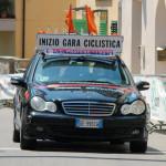 inizio gara ciclistica